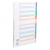 5 Star Office Maxi Divider 10-Part Multipunched Mylar-reinforced Coloured-Tabs 150gsm Extra Wide A4 White