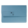 5 Star Office Document Wallet Half Flap 250gsm Recycled Capacity 32mm Foolscap Blue [Pack 50]