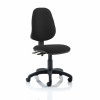Trexus 2 Lever High Back Permanent Contact Operators Chair Black 480x450x490-590mm Ref OP000024