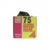 Le Cube Refuse Sacks with Tie Handle in Dispenser Box 100L 1474x1066mm Black Ref 0481 [Pack 75]