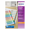 Avery ReadyIndex 1-10 Punched Mylar-reinforced Multicolour-Tabs 200gsm A4 White Ref 01735501