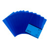 5 Star Office Folder Embossed Cut Flush Polypropylene Copy-safe Translucent 110 Micron A4 Blue [Pack 25]
