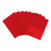 5 Star Office Folder Embossed Cut Flush Polypropylene Copy-safe Translucent 110 Micron A4 Red [Pack 25]