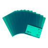 5 Star Office Folder Embossed Cut Flush Polypropylene Copy-safe Translucent 110 Micron A4 Green [Pack 25]