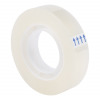 5 Star Office Clear Tape Roll Small Easy-tear Polypropylene 40 Microns 12mm x 33m [Pack 12]