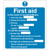 Stewart Superior First Aid / In the event of Accident Sign W195xH230mm Self Adhesive Vinyl Ref KS006SAV