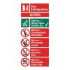 Stewart Superior Water Fire Extinguisher Safety Sign W100xH200mm Self-adhesive Vinyl Ref FF091SAV