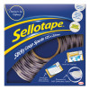 Sellotape Sticky Loop Spots in Handy Dispenser of 125 Spots Diameter 22mm each White Ref 1445181