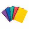 Notebook Side Wire bound 80gsm Ruled and Perforated 120pp A5 Assorted Colour A [Pack 10]