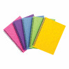 Notebook Sidebound Twin Wire 80gsm Ruled & Perforated 120pp A5 Assorted Colours C [Pack 10]