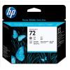 Hewlett Packard [HP] No.72 Inkjet Printhead Grey & Photo Black Ref C9380A