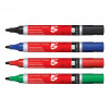 5 Star Office Permanent Marker Xylene/Toluene-free Smear proof Bullet Tip 2mm Line Black [Pack 12]