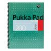 Pukka Recycled Ruled Wirebound Notebook 110 Pages A4 (Pack of 3) RCA4100