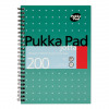 Pukka Pad Metallic Jotta Nbk Wirebound 80gsm Ruled Perforated 200pp A5 Metallic Green Ref JM021 [Pack 3]