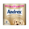 Andrex Toilet Rolls 2-Ply 124x104mm 4 rolls of 220 Sheets Per Pack Natural Pebble Ref 1102161 [Pack 9]