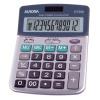 Aurora Semi-desk Calculator 12 Digit 3 Key Memory Battery/Solar Power 103x23x151mm Silver Ref DT661