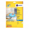 Avery CD/DVD Labels Inkjet 2 per Sheet Dia.117mm Easy Application White Ref J8676-25 [50 Labels]