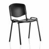 Trexus Stacking Chair Black Poly 460x390x430mm Ref BR000056