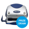 Rexel P215 Punch 2-Hole with Nameplate Capacity 15x 80gsm Silver and Blue Ref 2100739 [COMPETITION]