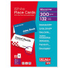 DECAdry Place Cards for Folding 200gsm 6 per A4 Sheet 85x46mm when Folded Ref OCB3713-3 [Pack 132 Cards]