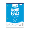Silvine Refill Pad FSC Paper Feint Headbound Ruled Margin 4-Hole Punched 160pp A4 Ref FSCRP80 [Pack 5]