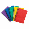 Notebook Side Wirebound 80gsm Ruled and Perforated 120pp A6 Assorted Colours A [Pack 10]