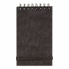 Notepad Head Wirebound 80gsm Ruled and Perforated 120pp 76x127mm Black [Pack 10]