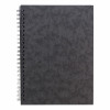 Notebook Side Wirebound 80gsm Ruled and Perforated 120pp A5 Black [Pack 10]
