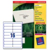 Avery Addressing Labels Laser Recycled 16 per Sheet 99.1x33.9mm White Ref LR7162-100 [1600 Labels]