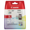 Canon CL-513 Inkjet Cartridge Page Life 349pp 13ml Tri-Colour Ref 2971B001AA