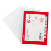 5 Star Office Folder Embossed Cut Flush Polypropylene with Thumb Hole 90 Micron A4 Clear [Pack 100]