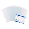 5 Star Elite Folder Cut Flush Polypropylene Top and Side Opening 135 Micron A4 Glass Clear [Pack 10]