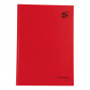 Black n Red Notebook Casebound 90gsm Ruled 192pp A4 Ref 400116295 [Pack 5 Plus 2 FREE]