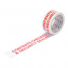 5 Star Office Printed Tape Contents Checked Polypropylene 48mm x 66m Red on White [Pack 6]