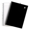 5 Star Office Notebook Wirebound 80gsm Ruled 140pp A5 Black [Pack 5]