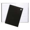 5 Star Notebook Casebound Hard Cover Ruled 80gsm A4 Black [Pack 5]