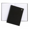 5 Star Notebook Casebound Hard Cover Ruled 80gsm A5 Black [Pack 5]