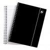 5 Star Office Notebook Wirebound Polypropylene 80gsm Ruled 160pp A5 Black [Pack 6]
