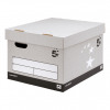 5 Star Facilities FSC Storage Box With Lid Self-Assembly Extra Large Grey [Pack 10]