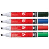 5 Star Office Drywipe Marker Xylene/Toluene-free Chisel Tip 2-5mm Line Wallet Assorted [Pack 6]