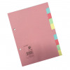 5 Star Office Subject Dividers 10-Part Recycled Card Multipunched 155gsm A5 Assorted