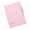 5 Star Office Subject Dividers 6-Part Recycled Card Multipunched 155gsm A4 Assorted