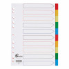 5 Star Elite Divider 10-Part Polypropylene Punched Reinforced Coloured-Tabs 120 Micron A4 White