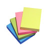 5 Star Respositionable Notes 70gsm 4 Neon Ass Colours Yellow Pink Blue Green 100 Sheets 38x51mm [Pack 12]