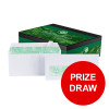 Basildon Bond Envelopes Recycled Wallet P&S Window 120gsm DL White Ref A80117 [Pack 500] [PRIZE DRAW]