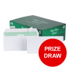 Basildon Bond Envelopes DL Wallet Peel and Seal Recycled 120gsm White Ref C80116 Pack 500 [PRIZE DRAW]