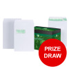 Basildon Bond Envelopes FSC Recycled Pocket P&S Window 120gsm C4 White Ref K80121 [Pack 250] [PRIZE DRAW]