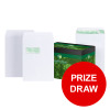 Basildon Bond Envelopes FSC Recycled Pocket Peel &Seal 120gsm C4 White Ref M80120 [Pack 250] [PRIZE DRAW]