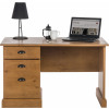 Teknik Office French Gardens Compact Pine Effect Study Desk With Single Pedestal And Filer Drawer