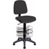 Teknik Ergo Blaster Black Fabric Operator Chair Deluxe With Ring Kit Conversion and Movable Footring
